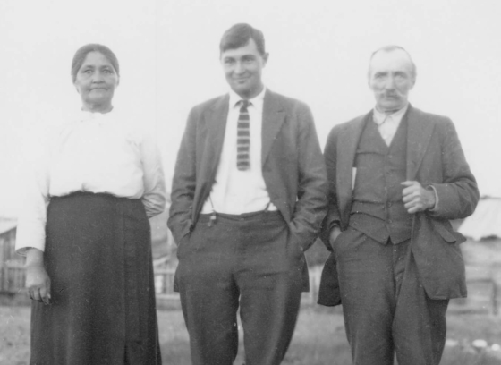 Cecilia, Marvin, and August (Sr.) Baker